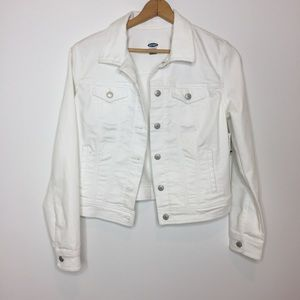 NWT Old Navy Jean Jacket White denim jacket large
